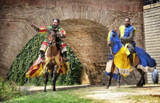 Torneo con caballos. Caballería histórica